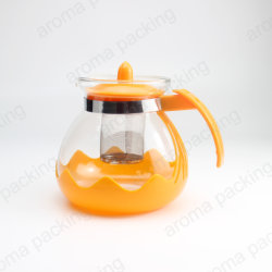 Commerce de gros ensembles 1500ml théière en verre de thé de café