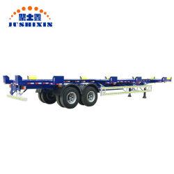 2 essieu de la Chine usine 40ft 70tonnes Port Terminal squelette/camion squelettique tracteur semi-remorque pour la vente de conteneur