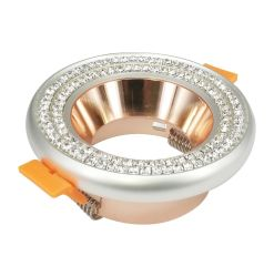Lumière encastrée en aluminium diamant classique bâti de montage pour Spotlight Spot Downlight LED/halogène/GU10/MR16/PAR16/gu5.3/50mm C24
