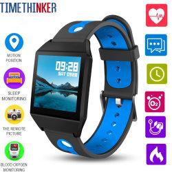 W1 Timethinker Smart Watch Bracelet Relojes Sports de la pression artérielle Moniteur de fréquence cardiaque Hommes Agps ressemble ionique Fitbit podomètre