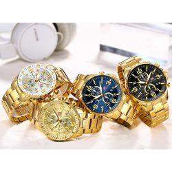 MiniFocus Men Quartz Wrist Brand Watches Men Watch mit Gold Band