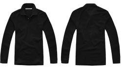 La coutume de travailleurs de la mode à manches longues Tee-shirts polo noir