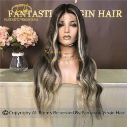 Ventas/Highlighs caliente Balayage Color de cabello humano para mujer
