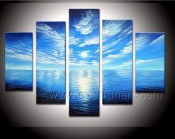 Schönes Meerblick-Ölgemälde auf Segeltuch-Abbildung für Hauptdekoration (SE-180)