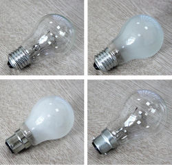 E27 B22 A55 A60 60W lâmpada incandescente clara e fosco