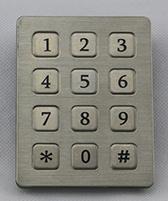 3X4 Metallic Keypad