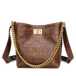 Diseñador de moda Dama calidad marca de lujo Crossbody hombro de cuero auténtico bolso de regalo mujer distribuidor del mercado mayorista de ropa de la bolsa de la cuchara vestir prendas de vestir