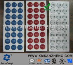 PC personalizado Resistente a chuva auto-adesivo brilhante a cores etiquetas selada