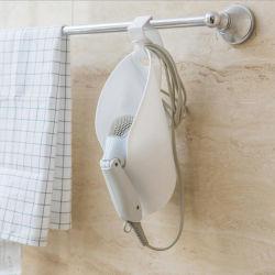 Casa de banho Secador de cabelo de armazenagem em prateleiras porta-paletes tipo pendurar gancho suporte portátil12310 ESG
