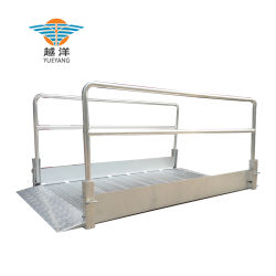 Pasarela de aluminio portátil de alta resistencia con rampa y pasamanos