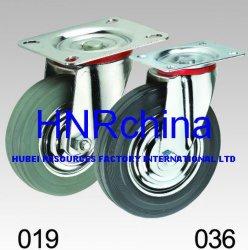 2,5 - 8 polegadas roda de borracha preta e cinza da roda do carrinho /Freio/Giratória com freio giratório// Rodinha Industriais
