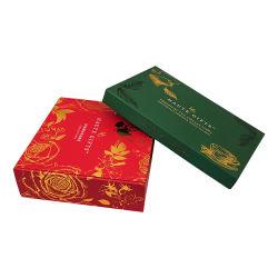 ممون عادة أنيق [فكتوري بريس] أحمر طباعة نوع ذهب يختم ورق مقوّى يغضّن هبة يعبّئ صندوق