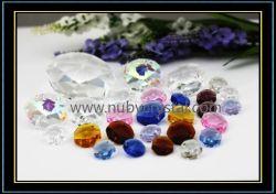 Abalorios de cristal Octógono de araña de cristal/cortina con reborde de 2 orificios (NU-DS7500)