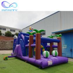 Neuer aufblasbarer Hindernis-Kurs scherzt im Freien laufende Spiel-Vergnügungspark-aufblasbare springende Schloss-Sport-Prahler-Spiele