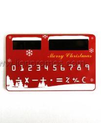 Carte de la GIT de promotion de Noël de la forme d'énergie solaire de 8 chiffres calculatrice de poche