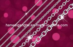 Collar de plata, plata de la cadena de cable