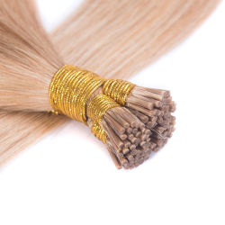 La queratina Stick/I Sugerencia Remy de extensión de cabello humano recto 100 hilos/paq.