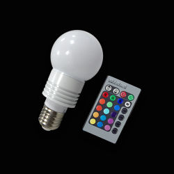 3 Вт Светодиодные лампы RGB салона фонарь рабочего освещения E27 светодиодный RGB лампы фонаря