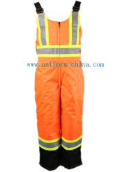 Bib Pants Waterproof Winter Workwear Coveralls, Polyester Bib Pants