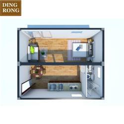Bureau de la chambre de luxe Hotel de conteneurs préfabriqués cabines chambres Jardin