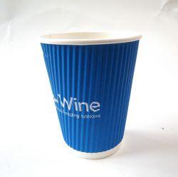 Insieme della tazza di carta e del piatto della parete dell'ondulazione con Customized-Rwpc-30