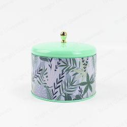 De in het groot Doos van het Tin van de Kaars van het Metaal van de Munt van de Douane Verpakkende Groene met Deksels