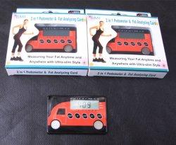 Podómetro y tarjeta de analizador de grasa corporal