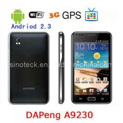 Un9230 Dapeng MTK TV6573 3G WiFi GPS Android 2.3 Smart Phone avec 4 Go