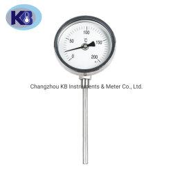 산업 두금속 두금속 두금속 온도계 주문 다이얼 OEM 온도계는 밑바닥 연결을 측정한다