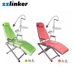 Lk-A37 Faltbarer, tragbarer Dental-Patientenstuhl mit Spucklampe und Fach