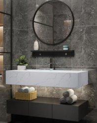 تصميم عصري مخصص من الرخام الصناعي غرفة تزيين الحمام
