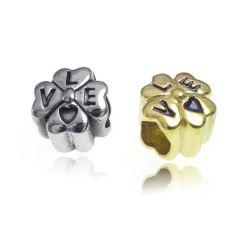 L'amour de bijoux de perles le moulage du métal vintage pour bracelets