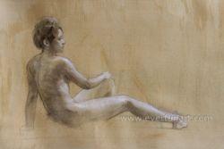 À la main nue moderne de gros de peinture photo Ebf-032