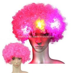 Les fans de LED Light up perruque de cheveux ventilateurs clignotant Fun Party Rave Hat Glow partie
