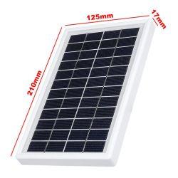 Cargador solar 12V 5W la tableta de polisilicio generador solar para el adaptador de viaje