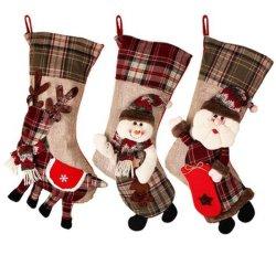Großes Weihnachtsstrumpf-Ren-Socken-Süßigkeit-Beutel-Plüsch-Spielzeug