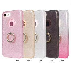Ringhalter TPU Bling Glitter Handy Tasche für iPhone