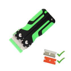 Скребок для очистки системы обеспечения безопасности складывания пластмассовый скребок бритвы с Double-Edged пластиковые лопасти