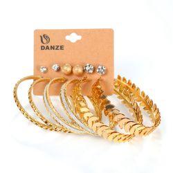 형식 은 금 색깔 놓이는 큰 원형 & 장식 못 귀걸이를 위한 OEM & 공장