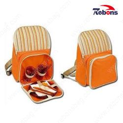 Custom 600d полиэстер охладителя на открытом воздухе в рюкзак для пикника кемпинг сумки