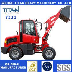중국 타이탄 디자인 미니 지하 소형 프론트 엔드 자동 농장 avant 1.2t 12 Zl12 Zl12f Yard 대형 트랙터 휠 로더 판매