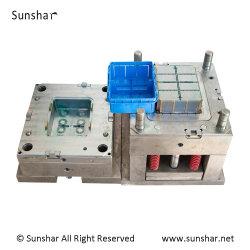 China Caja de herramientas de plástico molde Contenedor de almacenamiento de la empresa de moldeo por inyección