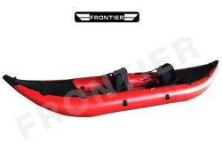 12 FT-Fischen-Absinken-Heftungs-Fußboden 0.9 mm Belüftung-rote Farben-aufblasbare Kajak-Boote
