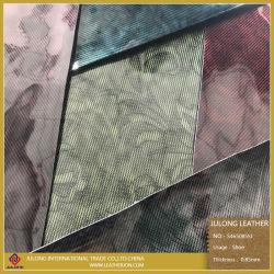 Película de cristal resplandecente do espelho de couro artificial de superfície para equipamento