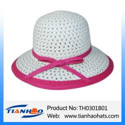 Paja de papel Cloche Verano Hat para dama