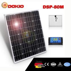Dokio 80Wのモノクリスタル太陽電池パネルの最上質の太陽電池