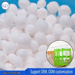 Выше 74% белый гранулированный хлористый кальций промышленного класса агента для сухих удобрений