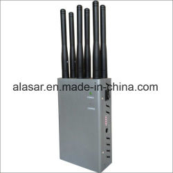 6CH handbediende Draagbare Mobiele Cellulaire 2g 3G 4G GSM CDMA Cellphone WiFi Bluetooth van Lte GPS Blocker van het Signaal, Stoorzender