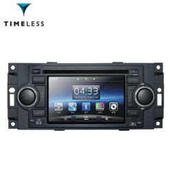 Lecteur audio de voiture pour Jeep Grand Cherokee/ /Chrysler Jeep Wrangler avec GPS intégré à double zone panneau numérique RDS Volant de direction (TID-6015)