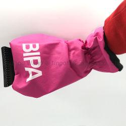 El logo impreso personalizado de plástico de coches Snow ice rascador con guante